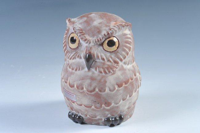 A CHESTER NICODEMUS ART POTTERY OWL