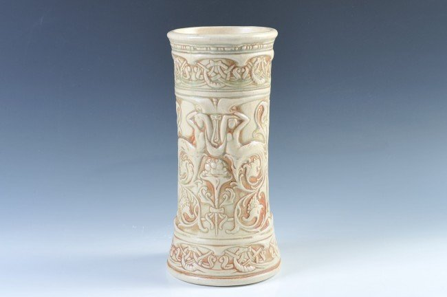 A 13-INCH WELLER POTTERY IVORY VASE