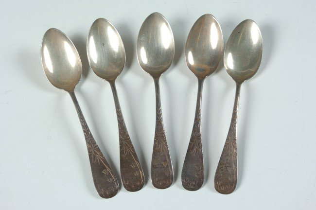FRANK M. WHITING LILY ENGRAVED FLATWARE