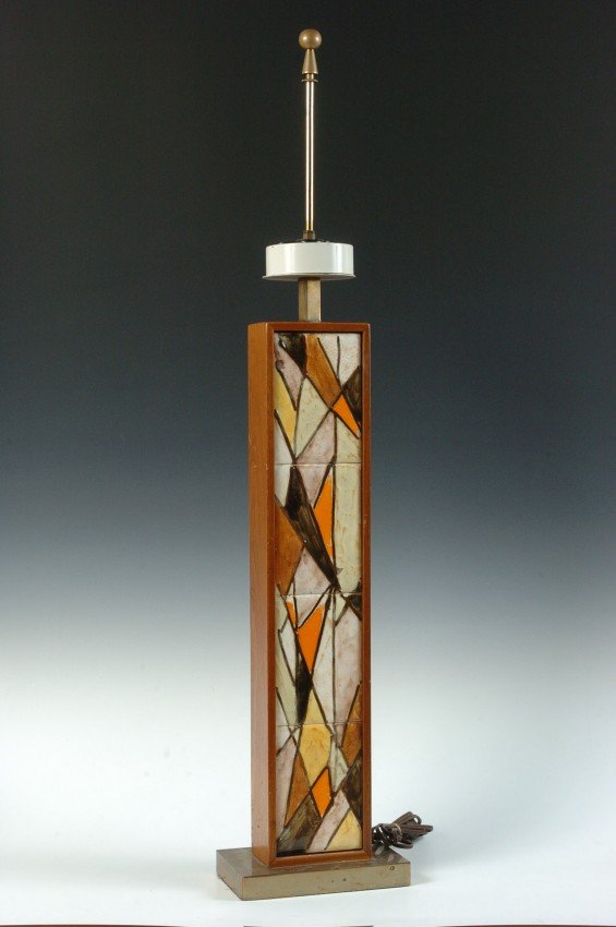 A 20TH C. AMERICAN TABLE LAMP, HARRIS STRONG (ATTRIBUTE
