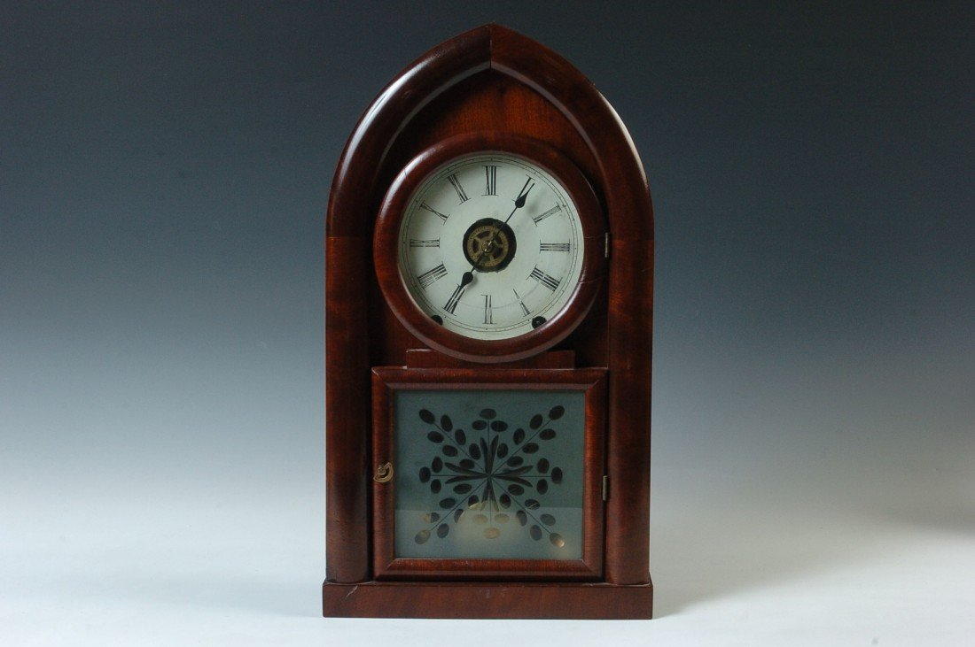 A BREWSTER AND INGRAHAM BEEHIVE CLOCK