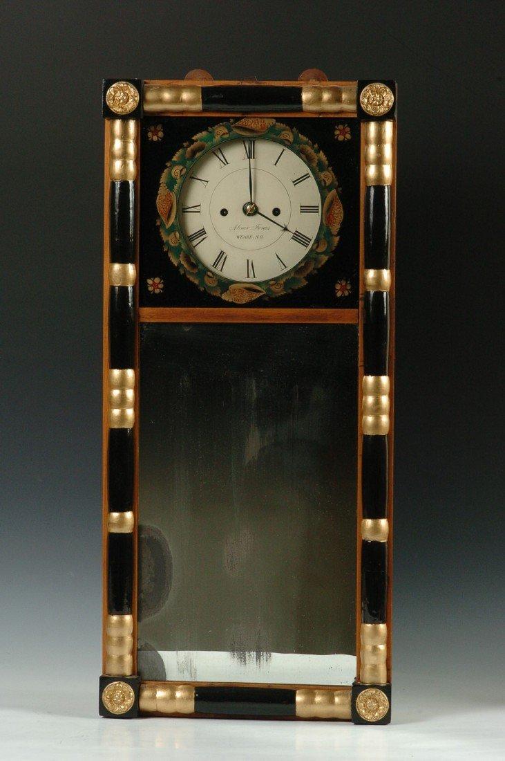 1830'S ABNER JONES LOOKING GLASS CLOCK