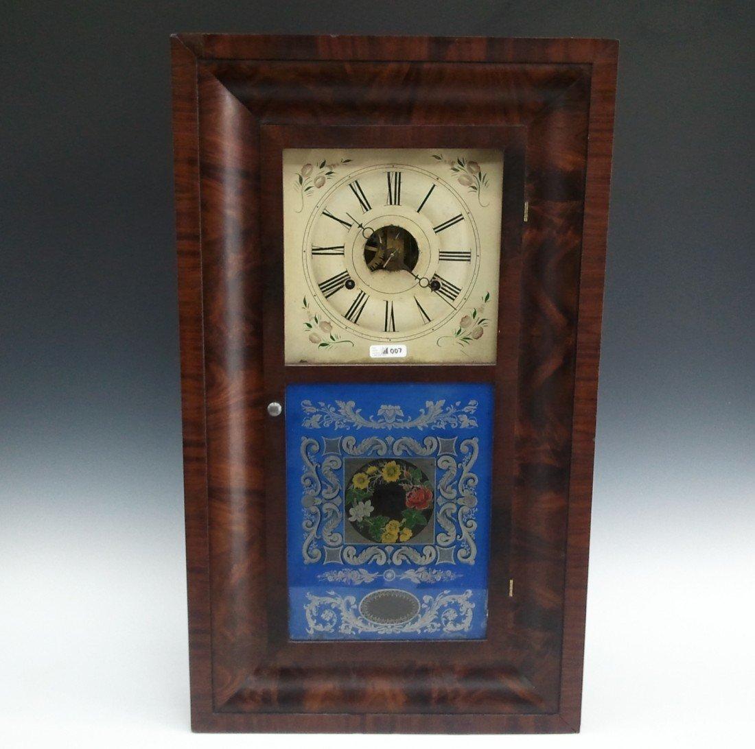 A SETH THOMAS OGEE SHELF CLOCK