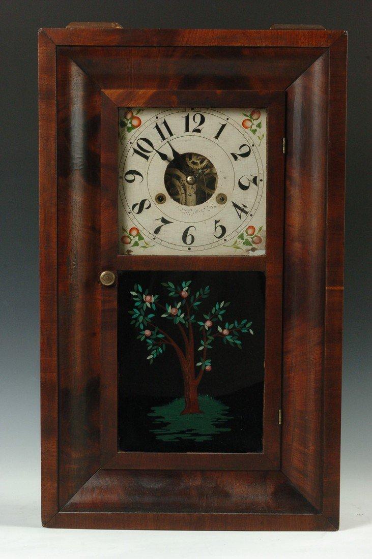 A SILAS HOADLEY 1809-1813 OGEE SHELF CLOCK