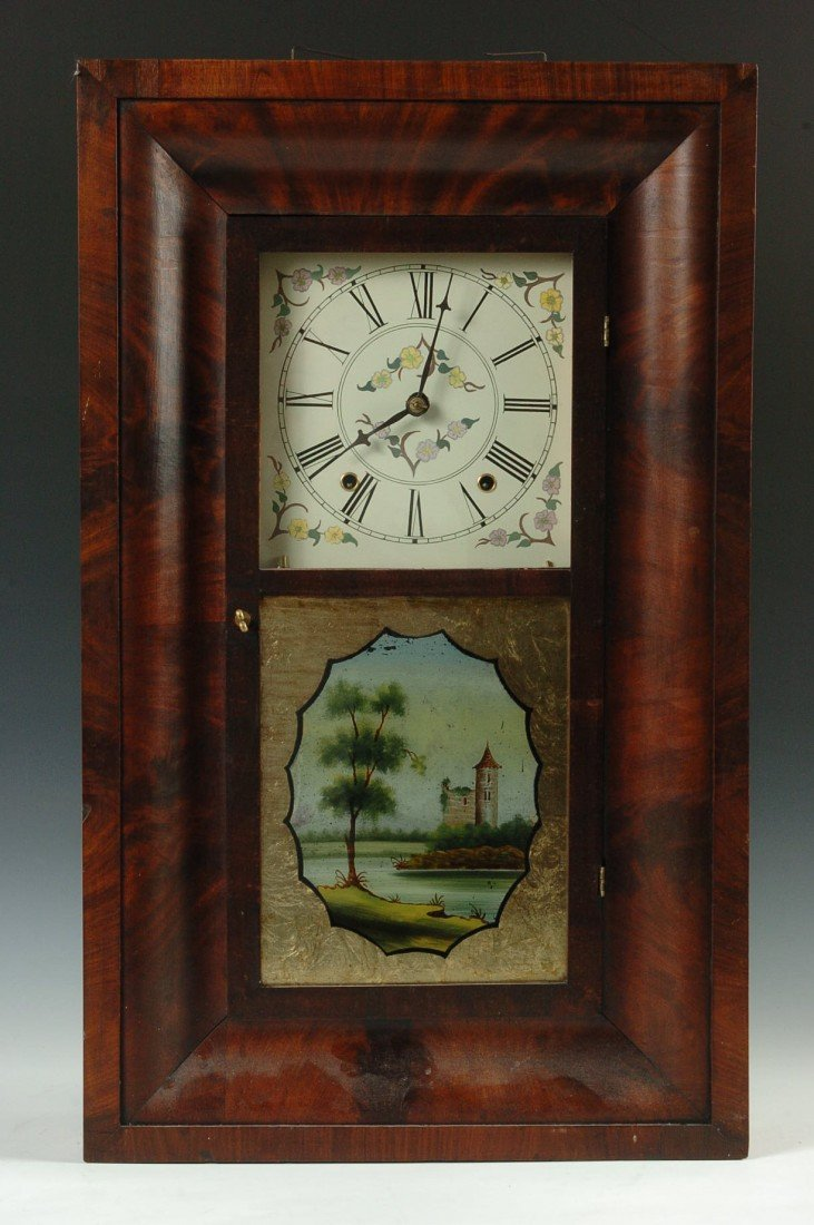 SMITH AND BROTHERS WOOD WORKS OGEE SHELF CLOCK