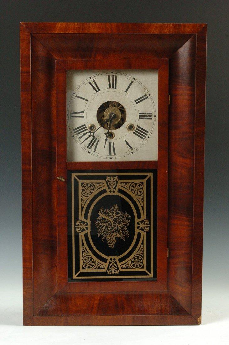 A WILLIAM S. JOHNSON 3 WT OGEE CLOCK, ALL ORIGINAL