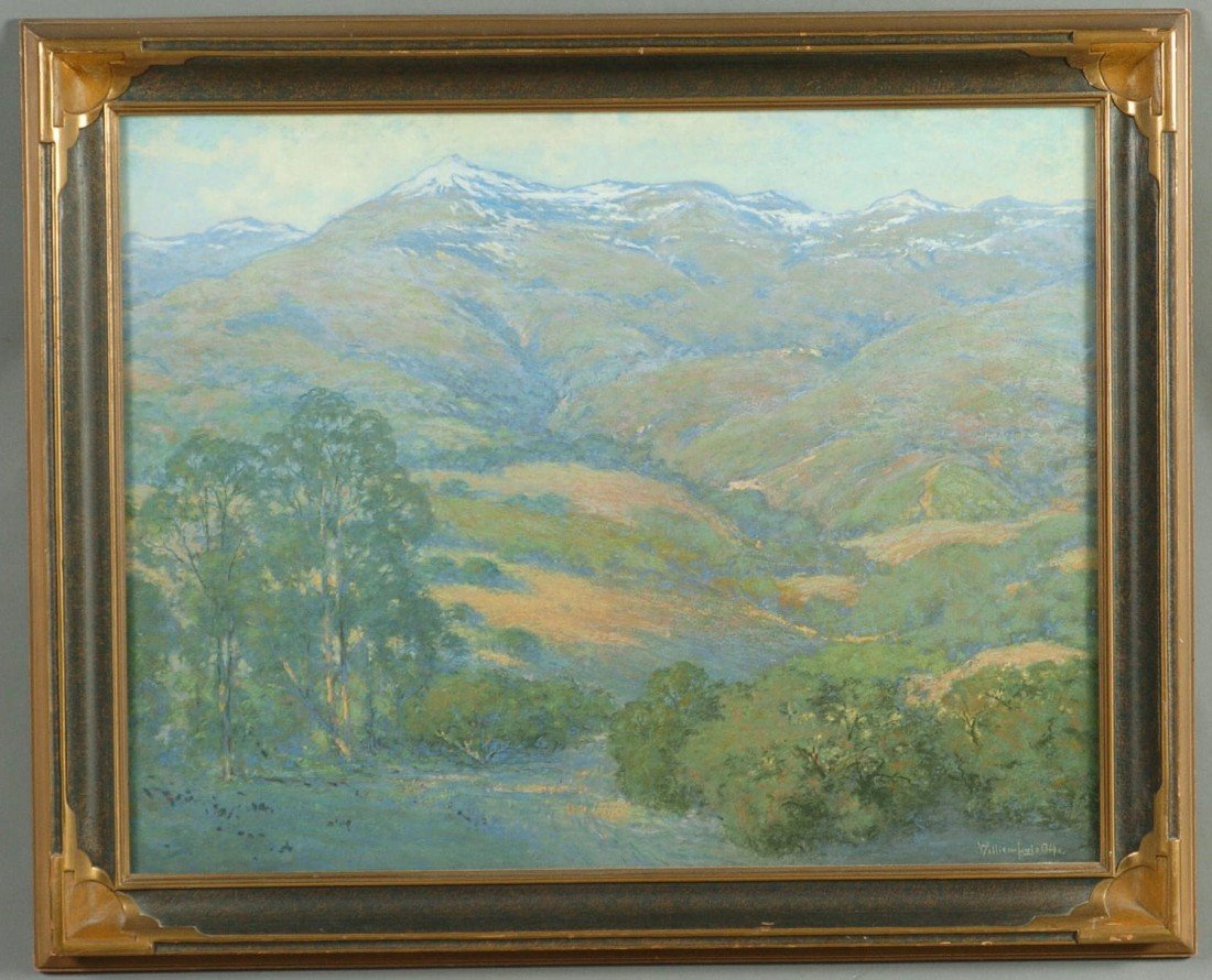 WILLIAM LOUIS OTTE (1871-1957) PASTEL, CALIFORNIA