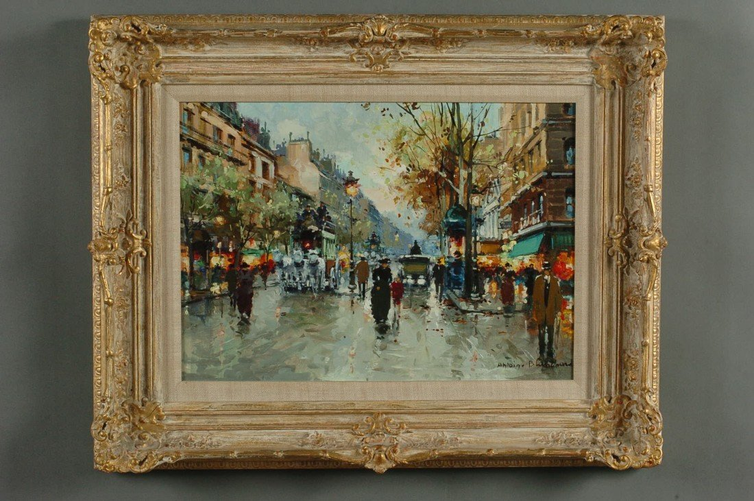 ANTOINE BLANCHARD (1910-1988 FRENCH) OIL ON CANVAS