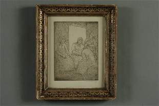 ABRAHAM WALKOWITZ (1878-1965) PENCIL SIGNED ETCHING