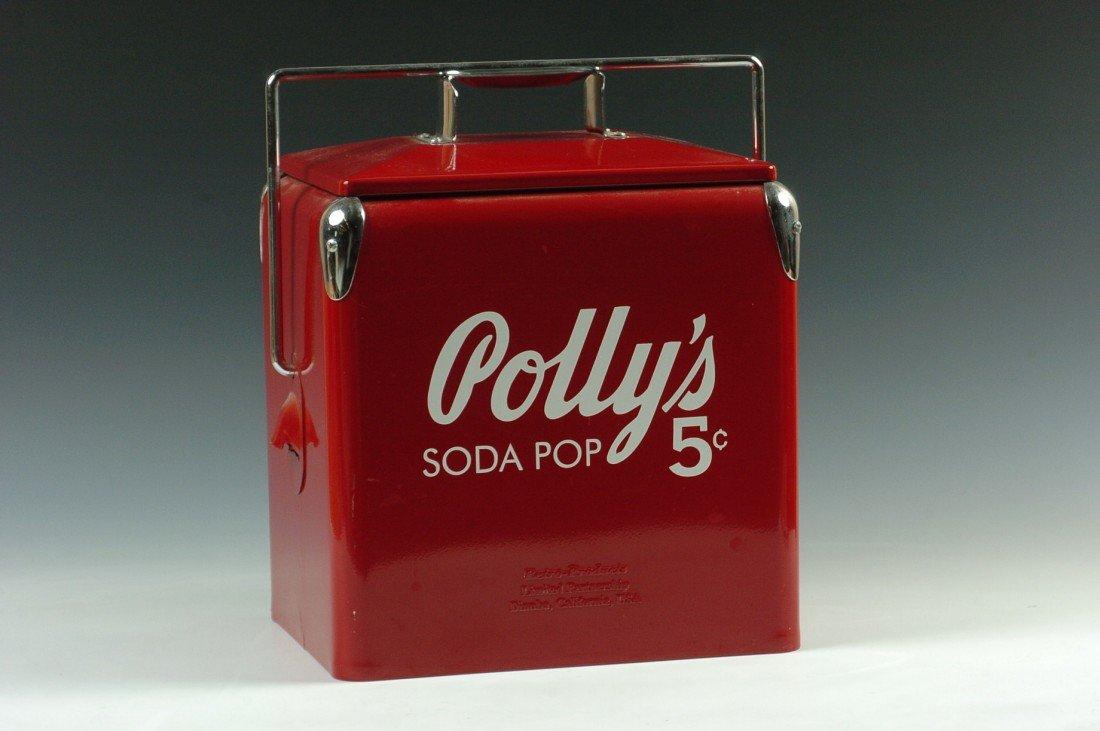 POLLY'S SODA POP ADVERTISING COOLER
