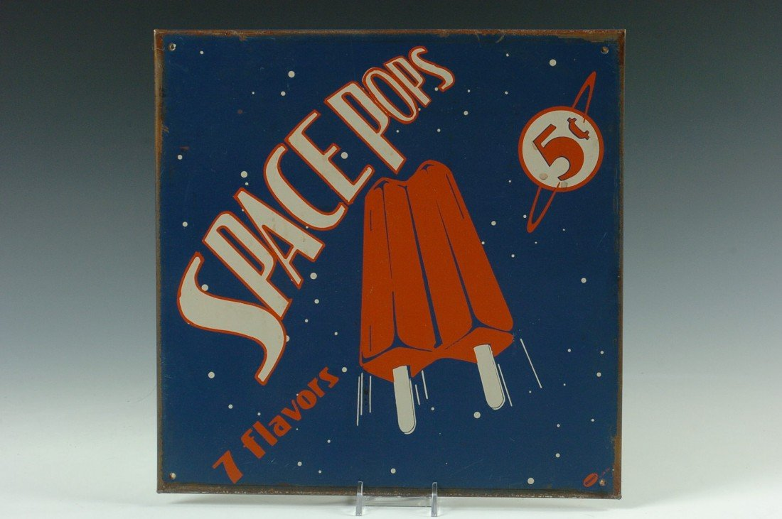 RARE SPACE POPS ADVERTISING SIGN