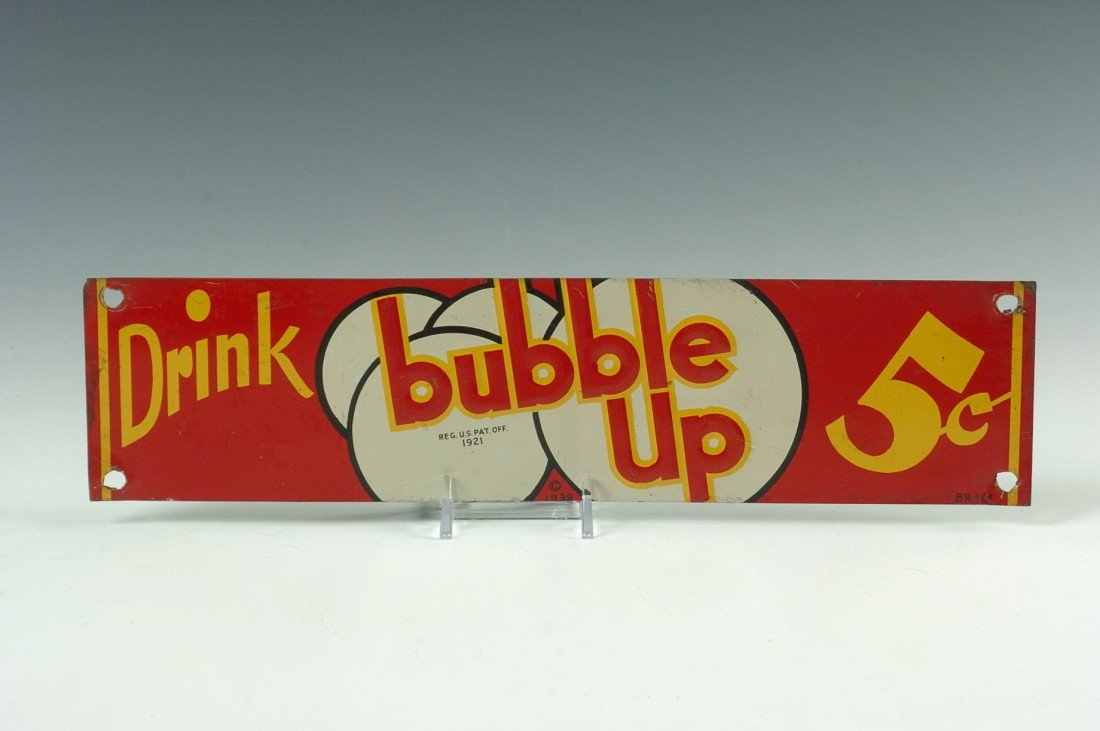 DRINK BUBBLE UP ADVERTISING SIGN