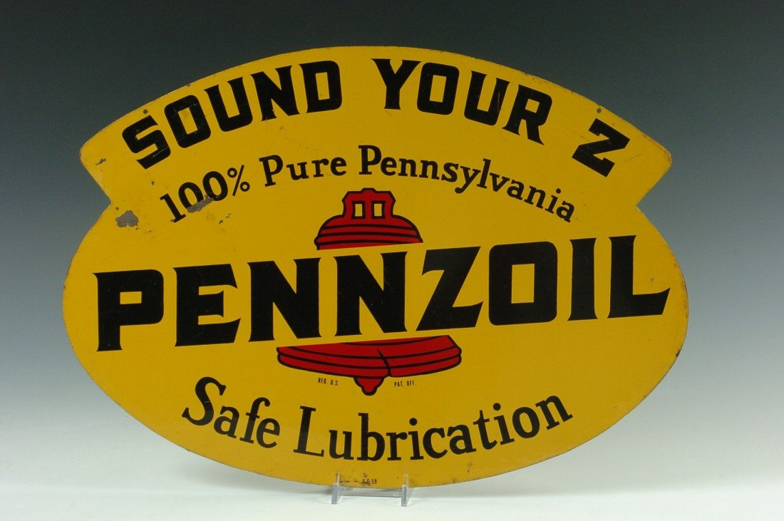 A SMALLER PENNZOIL 'SOUND YOUR Z' ADVERTISING SIGN