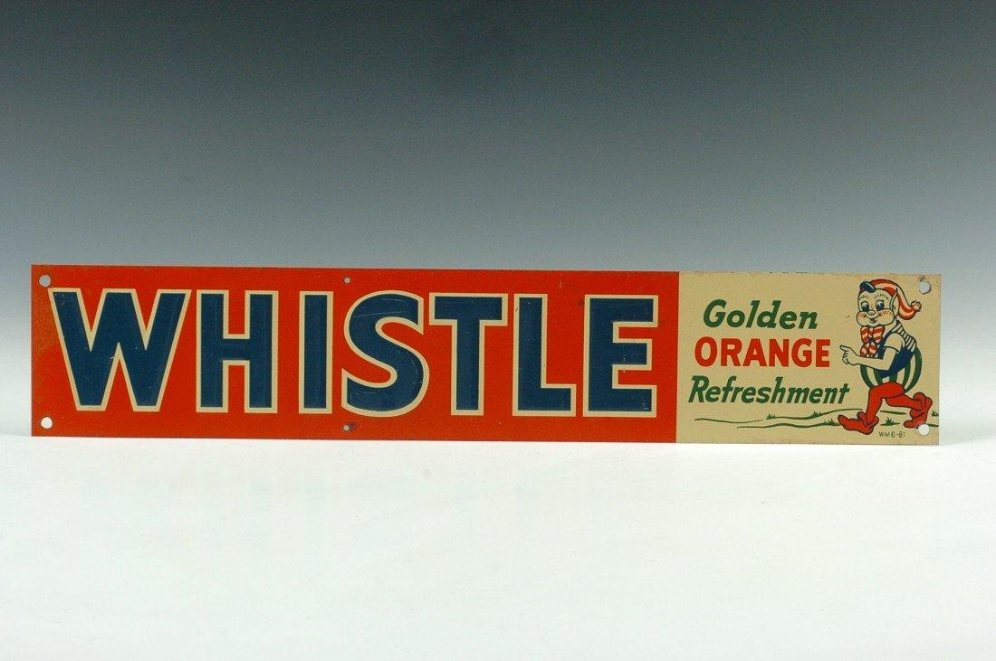 A WHISTLE ORANGE REFRESHMENT ADVERTISING SIGN