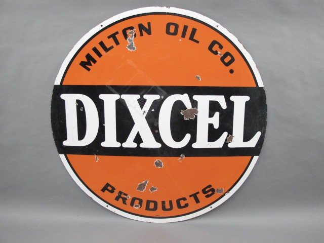 MILTON OIL CO PRODUCTS DIXCEL ADVERTISING SIGN