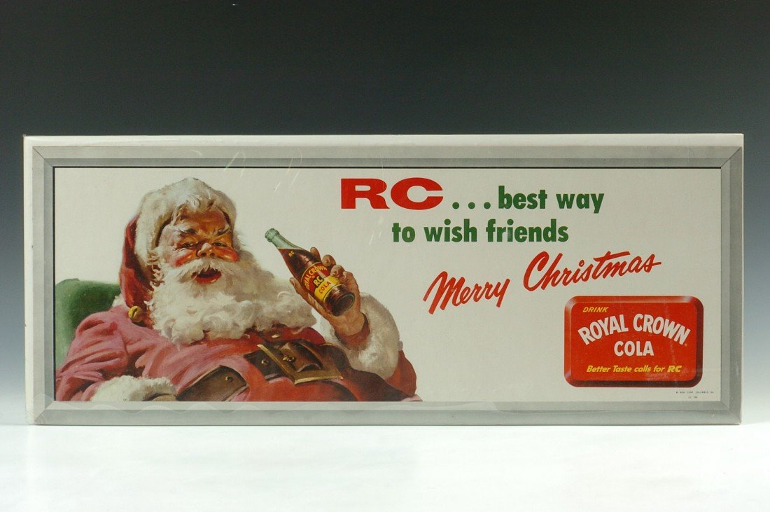ROYAL CROWN RC SANTA CLAUS ADVERTISING SIGN