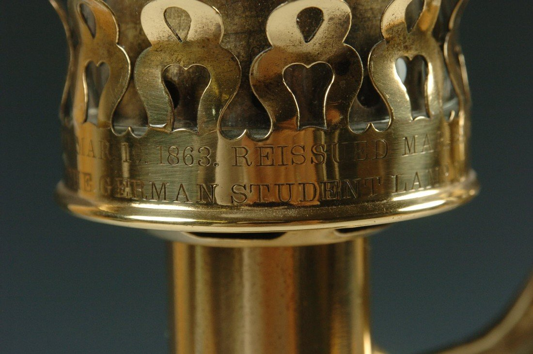 THE GERMAN STUDENT LAMP CO. ANTIQUE LAMP C. 1870 - 6