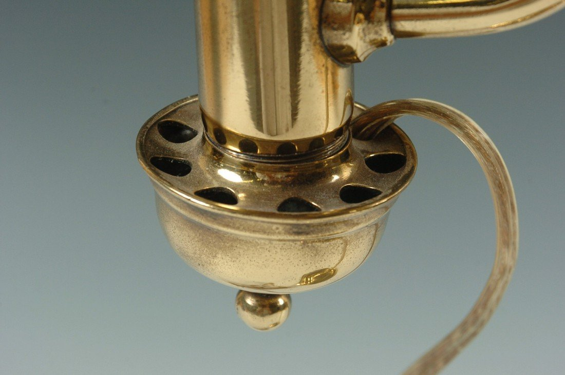 THE GERMAN STUDENT LAMP CO. ANTIQUE LAMP C. 1870 - 9