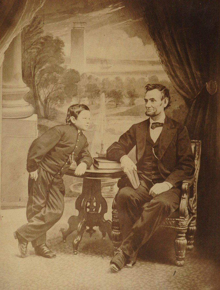 RARE LARGE GARDNER PHOTO 'ABRAHAM LINCOLN AND HIS SON T