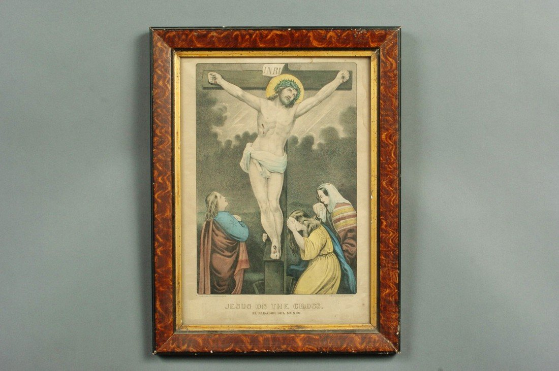 CURRIER AND IVES JESUS ON THE CROSS