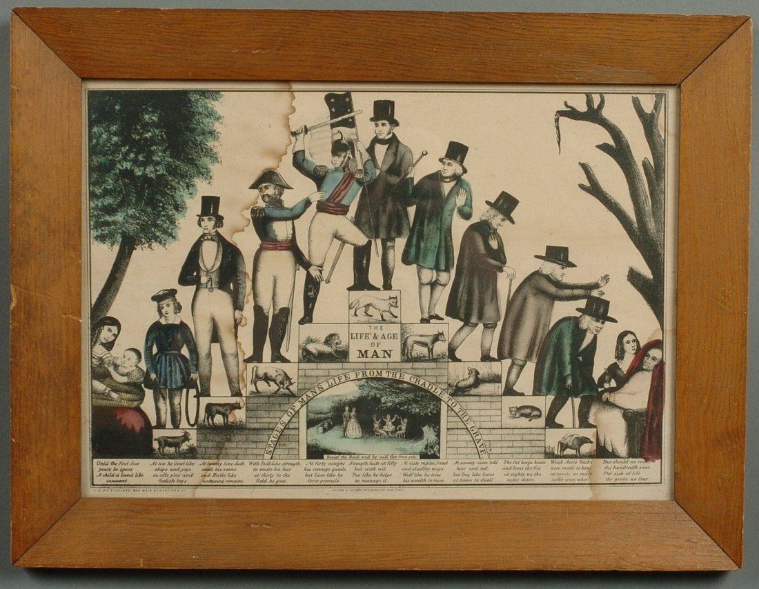 THE LIFE & AGE OF MAN, HAND-COLORED LITHOGRAPH BY KELLO