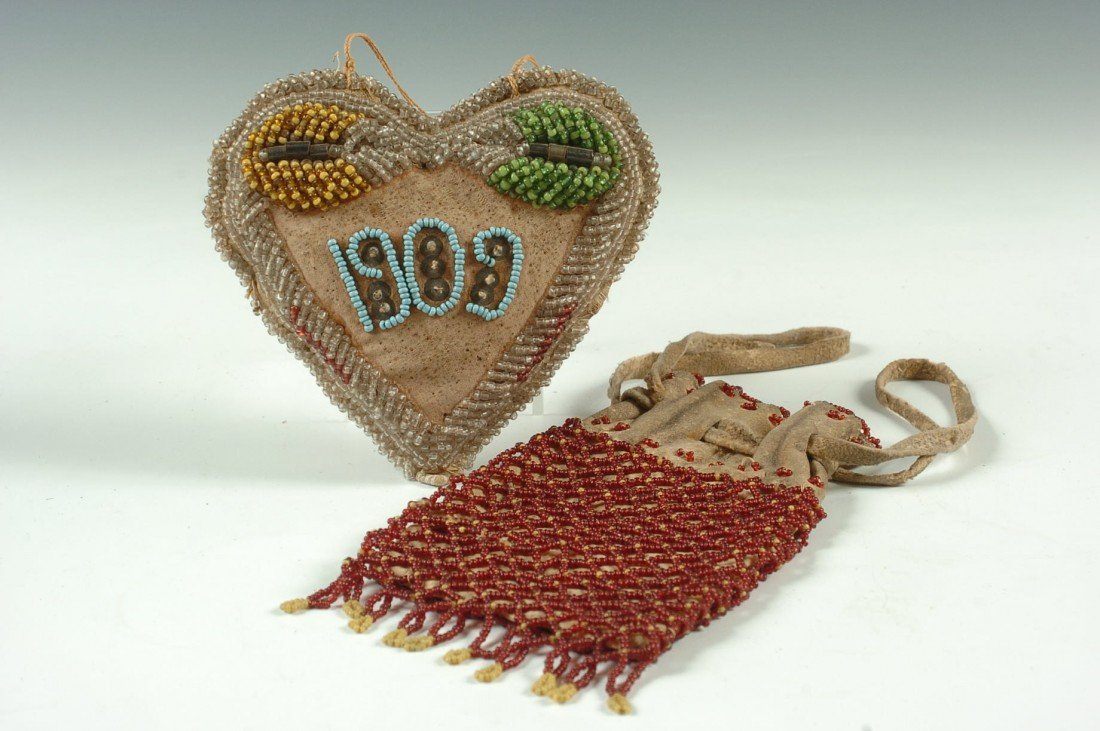 TWO NATIVE AMERICAN BEADED ITEMS