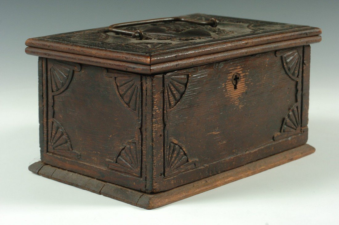 19TH C. CARVED DOCUMENT BOX