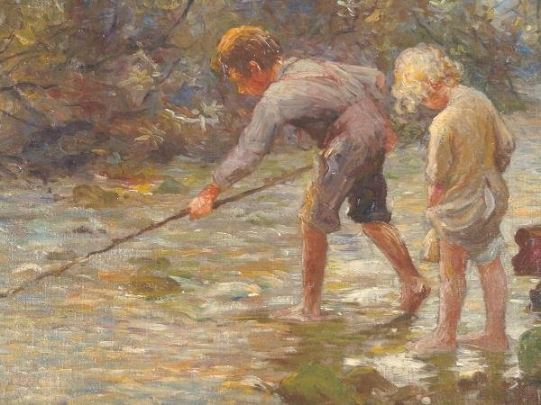 597: OIL ON CANVAS BY ADAM EMORY ALBRIGHT (1862-1957)