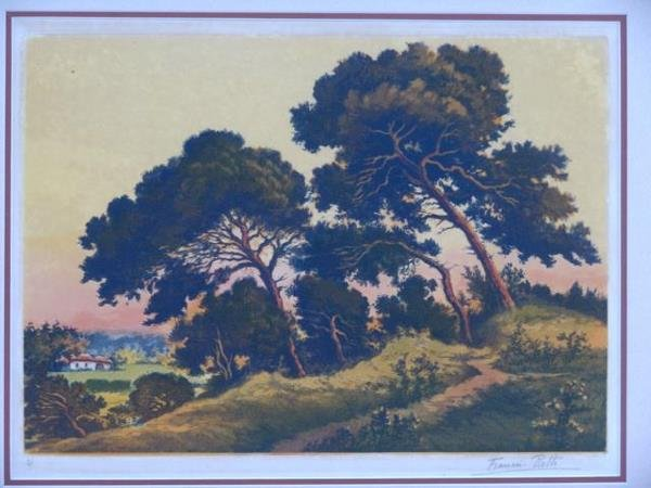 628: COLOR ETCHING BY FRANCIS ROTH - 2