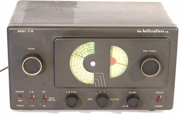 709: HALLICRAFTERS MODEL S-38 TUBE RADIO