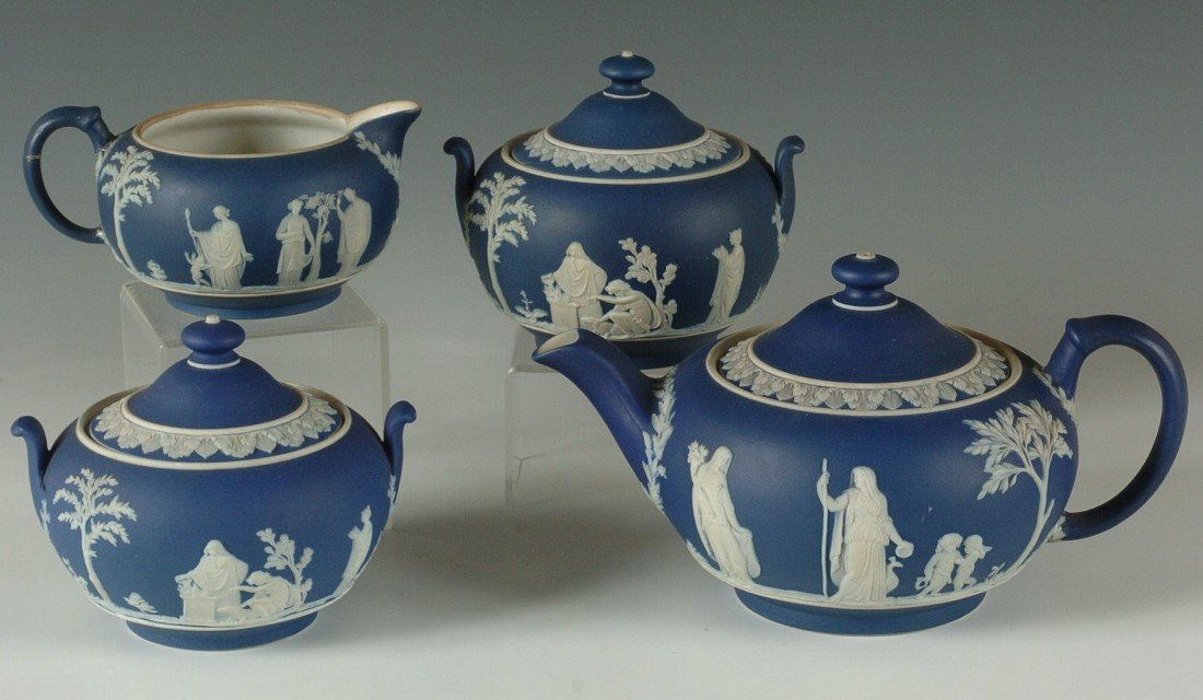 WEDGWOOD DARK BLUE JASPER WARE
