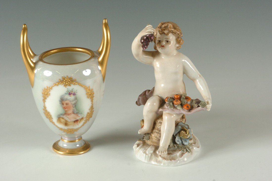 TWO PIECES OF DRESDEN PORCELAIN
