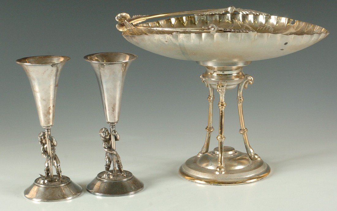THREE PIECES OF VICTORIAN QUADRUPLE PLATED SILVER