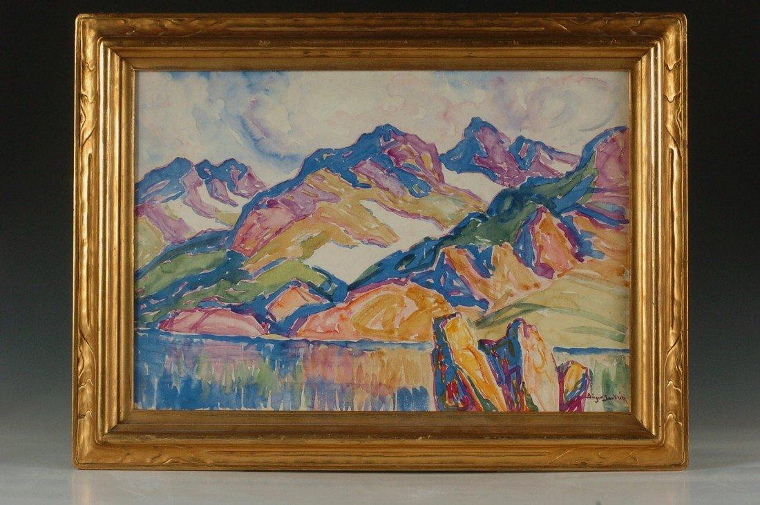 BIRGER SANDZEN (1871 - 1954) 1930'S COLORADO WATERCOLOR