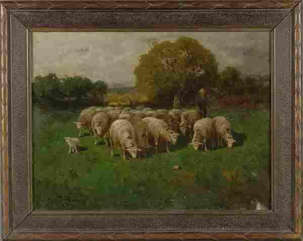 CHARLES T. PHELAN (1840 - ) PAINTING LISTED NY ART