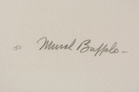 CHARLES BANKS WILSON SIGNED LITHO 'MURAL BUFFALO' - 6