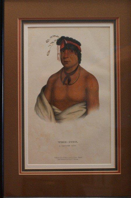 12: JOHN T. BOWEN (1801 - 1856) AMERICAN INDIAN LITHOGR