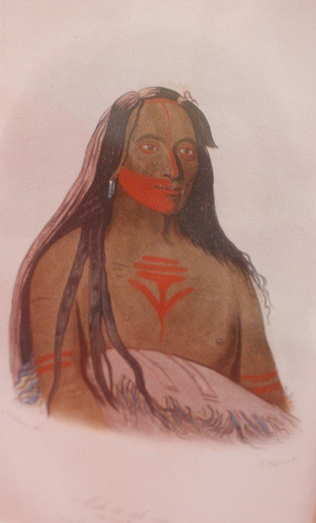 13: BOOKPLATE LITHO AM INDIAN AFTER GEORGE CATLIN