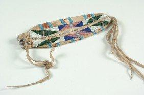 A SIOUX BEADED BAG CIRCA 1900