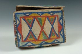 A PLAINS PARFLECHE CASE CIRCA 1920s