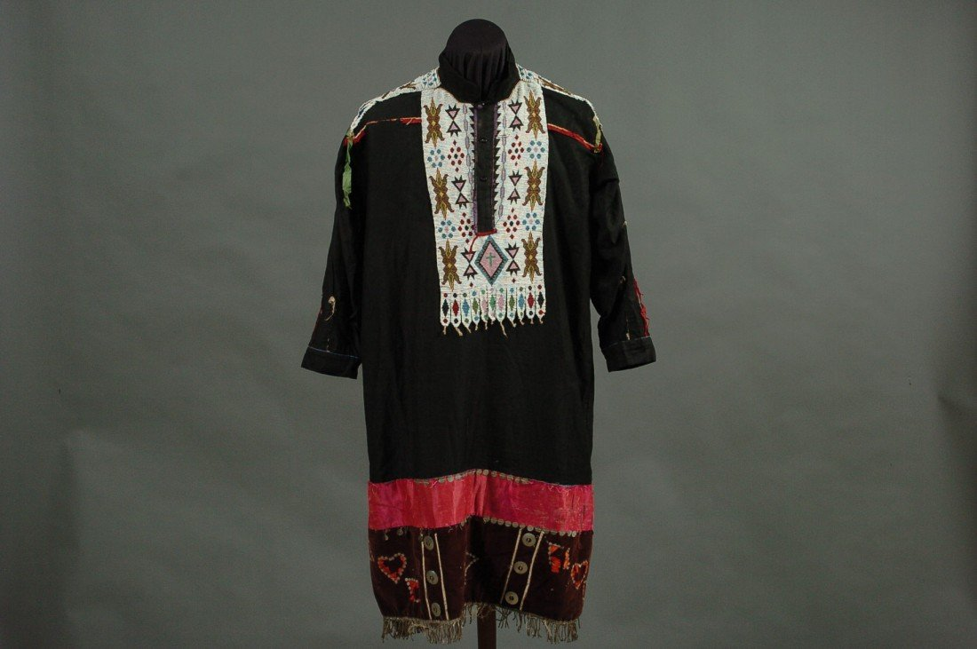 A PLAINS BEADED DRESS