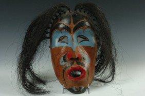 A KWAKIUTL 'WIND' MASK BY TOM JOHNSON, FORT RUPERT BC
