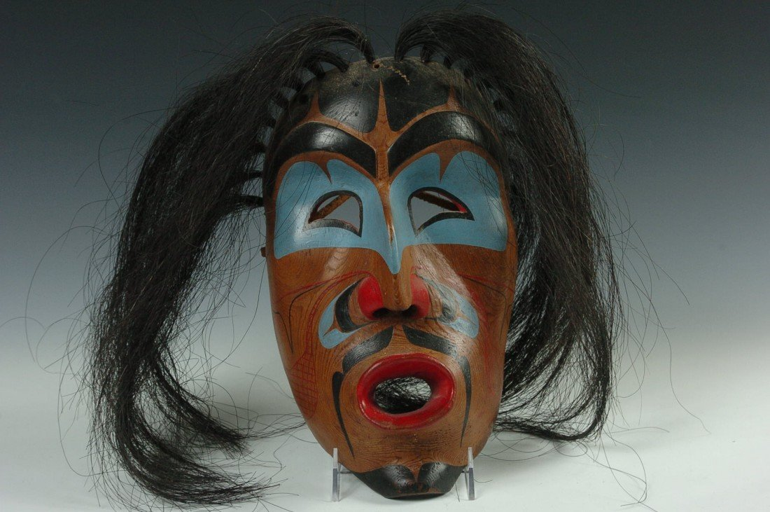 A KWAKIUTL 'WIND' MASK BY TOM JOHNSON, FORT RUPERT BC