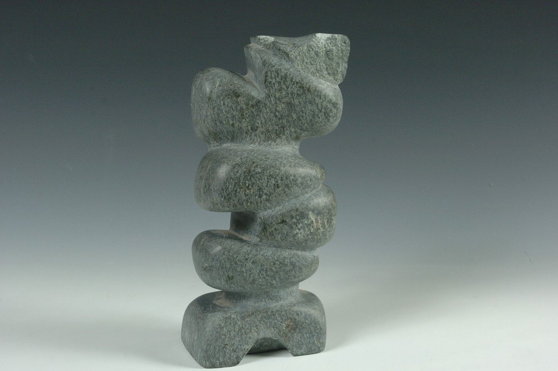 CREE INDIAN ABSTRACT SOAPSTONE CARVING