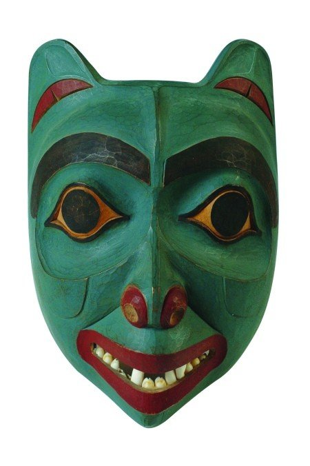 NORTHWEST COAST MASK SIGNED CHARLES JIMMIE, TLINGIT