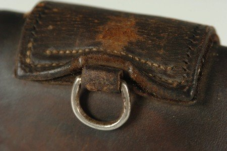 325: LEATHER POCKET WATCH CASE FOR HORSE TACK - 8