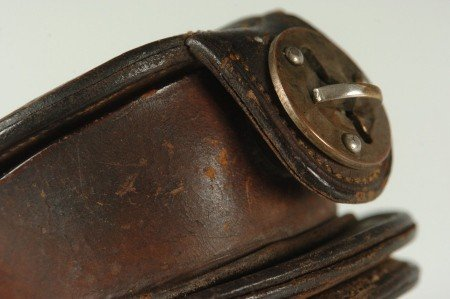 325: LEATHER POCKET WATCH CASE FOR HORSE TACK - 9