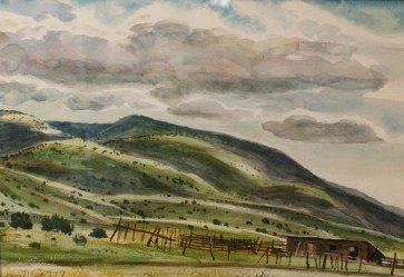 PETER HURD (1904 - 1984) WATERCOLOR ON PAPER NEW MEXICO