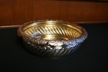 1892 GORHAM STERLING SILVER FRUIT AND FLOWERS BOWL
