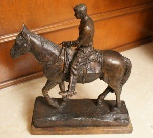 ELECTRA WAGGONER BIGGS (1912-2001) WILL ROGERS BRONZE